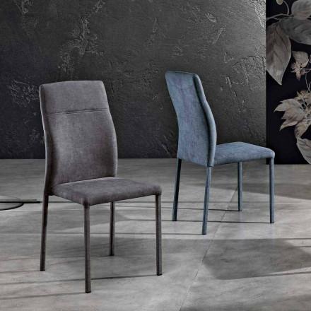 Design stol i tyg för matsal gjord i Italien, Luigina