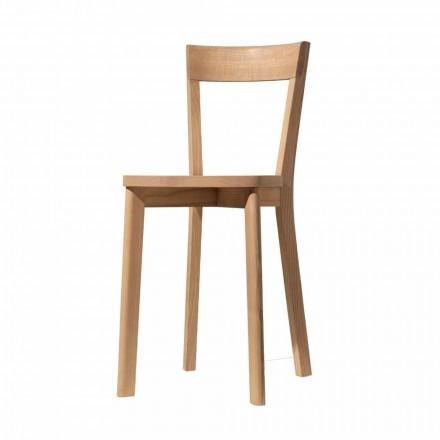 Matsalstol i ask och massivt trä tillverkat i Italien - Alima