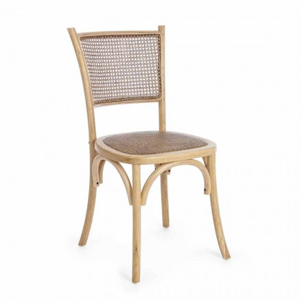Matsalstol i rotting och trä Klassisk design Homemotion - Meridia
