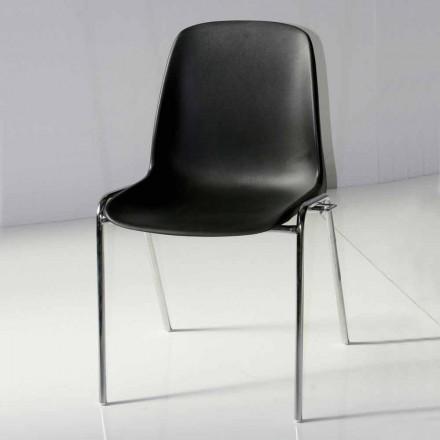Ordförande för mötesrum eller modernt konferensrum i metall och svart ABS - Zetica