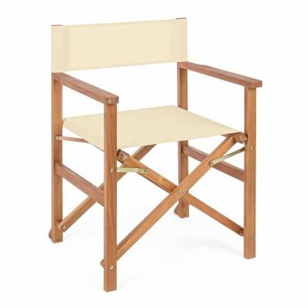 Direktörsstol i Acacia Wood för utomhusdesign för trädgård - Roxen