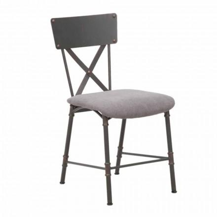 Matstol för industriell design i MDF och metall - Elodie