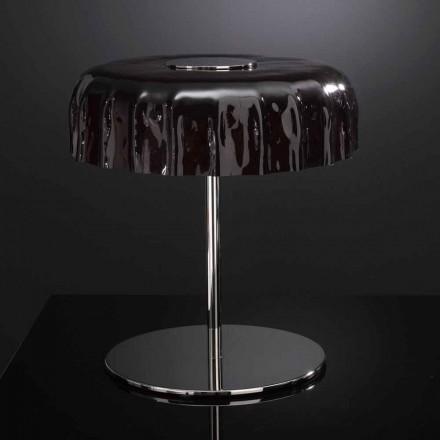 Selene Big Cap bordslampa glas Ø40 H 40cm gjord i Italien