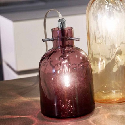 Selene Bossa Nova bordslampa Ø11 H16cm, blåst glas ametist