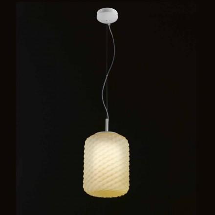 Selene Domino taklampa blåst Ø21 H 27/140 cm glas