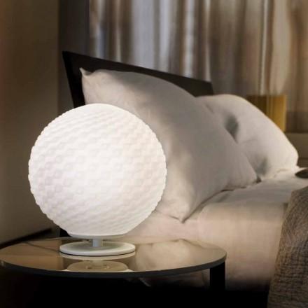 Selene Domino från vitt bordslampa i blåst glas Ø27 H 30cm