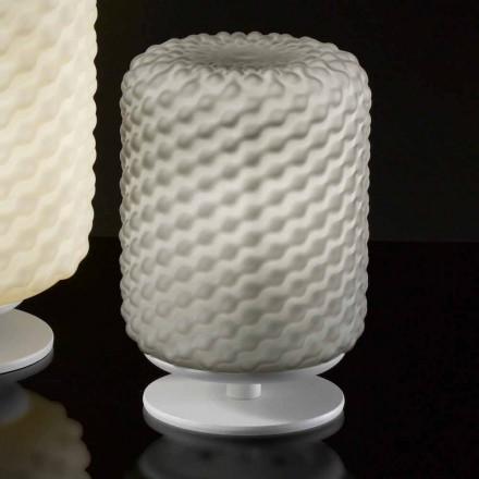 Selene Domino bordslampa Ø15 H22cm, blåst glas handgjorda
