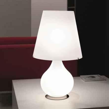 Selene evigt bordslampa blåst glas O41 H 72cm