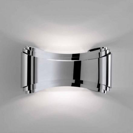 Selene Ionica vägglampa tillverkade i Italien, 30x10 H16cm, glas och stål