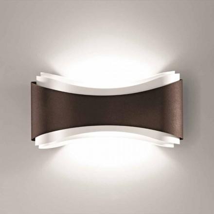 Selene Ionica vägglampa tillverkade i Italien, 40x12H20cm, stål och glas