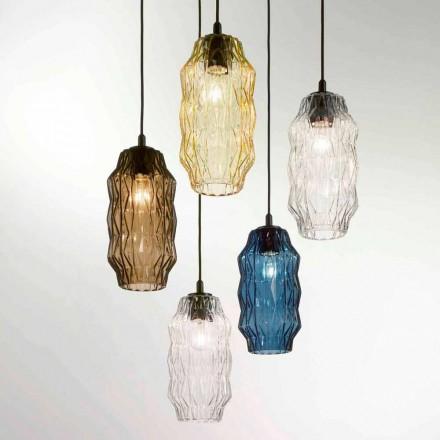Selene Origami taklampa blåst glas Ø16 H 30 / 140cm