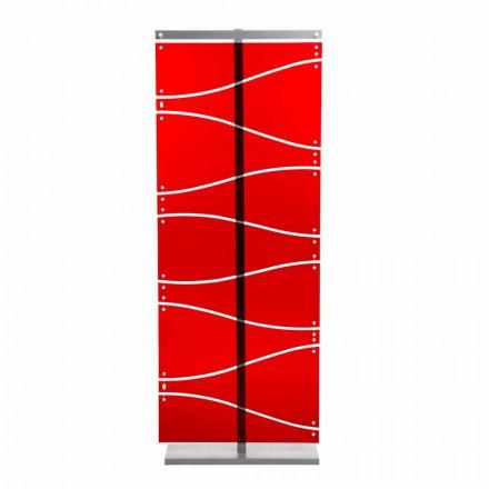 Booth modern design i rött metakrylat eller satin Evelyn