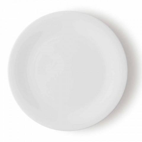 24 eleganta middagarplattor i vit porslinsdesign - Doriana
