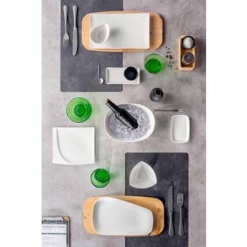 Aperitif Service 12 Pieces Modern vit porslin designplattor - Nalah
