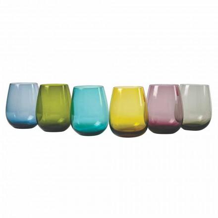 Designfärgade glasvattenglasögon, 12 stycken - Aperi