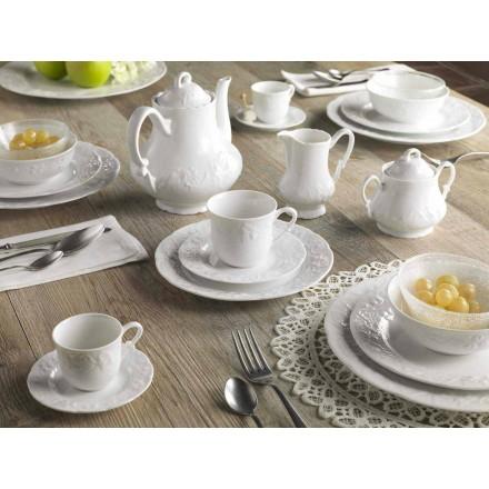 Komplett frukostservice 22 stycken i vitt porslin - Gimignano