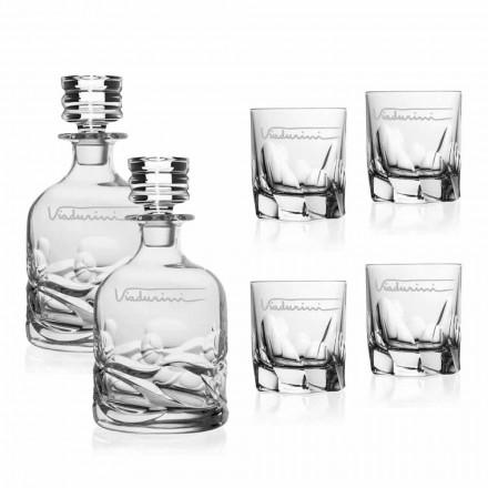 Ekologisk Crystal Whisky Service med personlig logotyp - Titanium