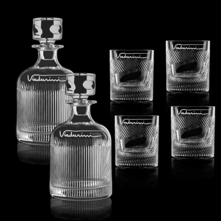 Ekologisk Crystal Whisky-service anpassningsbar med logotyp, 6 stycken - taktil