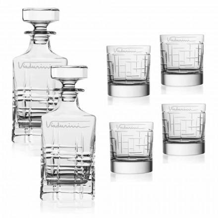 Crystal Eco Whiskyservice, anpassningsbar med logotyp, 6 stycken - arytmi