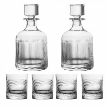 6-delar lyxig design ekologisk kristall whisky set - taktil
