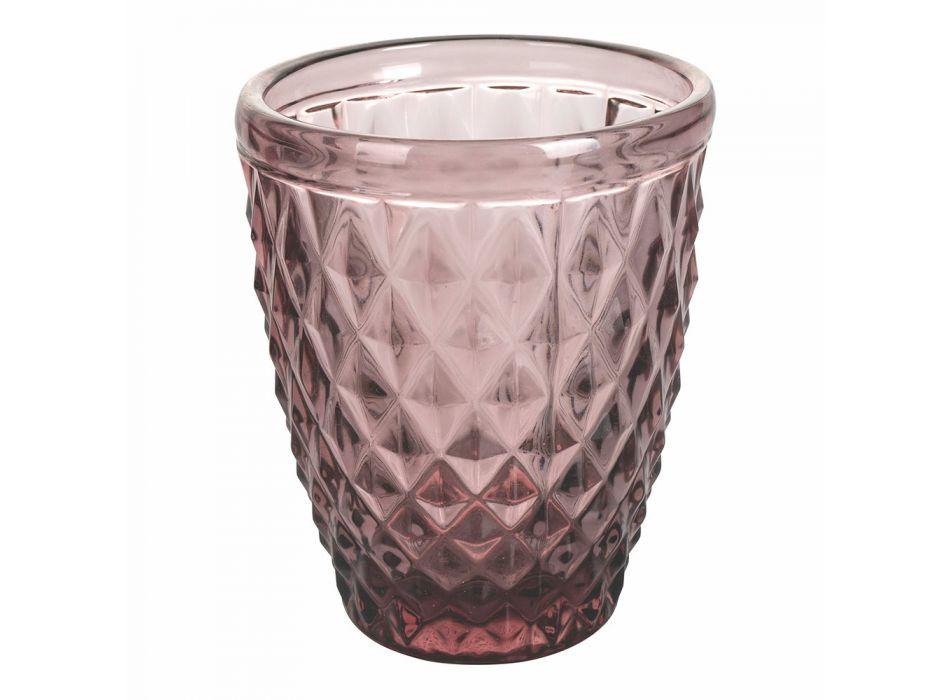 12 delar färgat glas vattenglasögon service - Artemisia