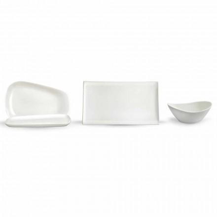 Serveringsplattor för lunch eller modernt porslin 14 delar - Nalah