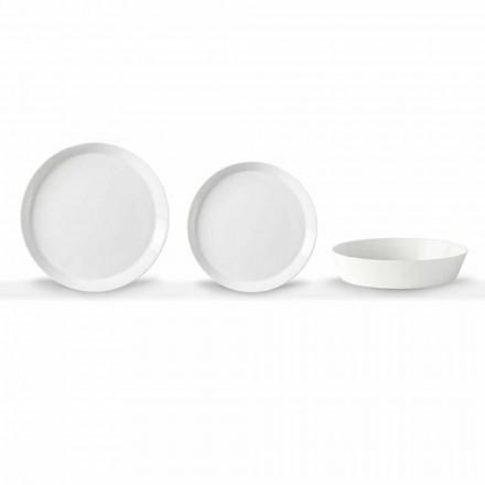 Elegant design vit porslin 18-delad middagssats - Egle