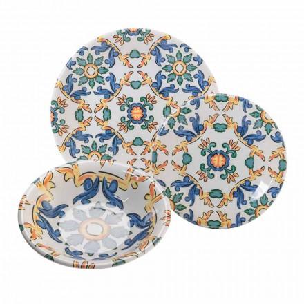 Moderna rätter i färgad keramik, kompletta 18 stycken - Abatellis