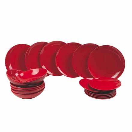 Röda julplattor i stengods 18 stycken tradition och elegans - Rossano