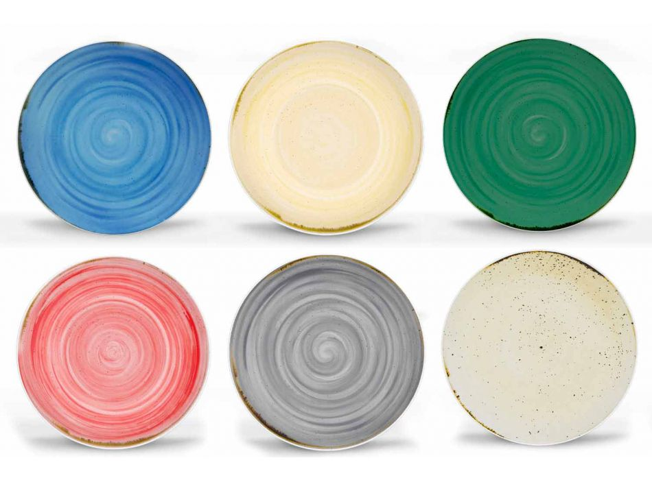 18-porslinsfärgad och modern middagstjänst - Rurolo
