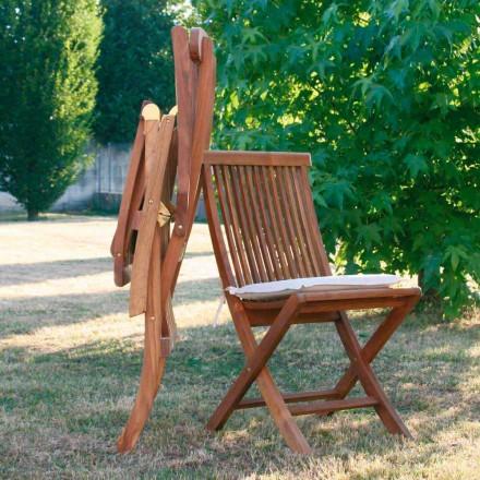 fällbara stolar i teak trädgårds