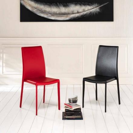 4 september moderna stolar Joy konstläder, helt täckt