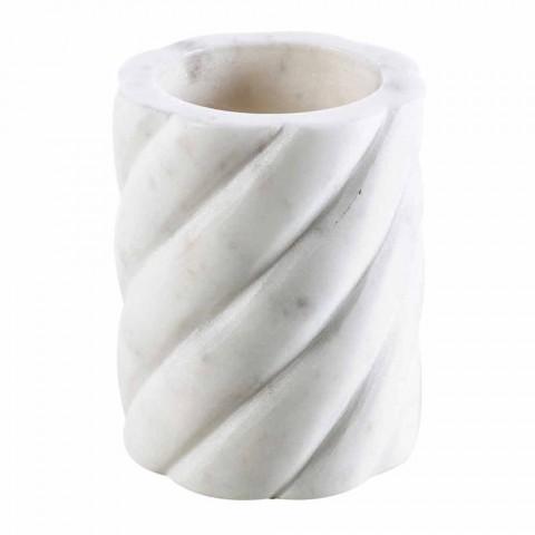 Badrumstillbehörstillbehör i Calacatta Monza marmor