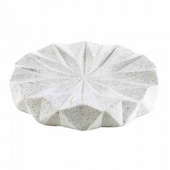 Levice white resin badrumstillbehör set