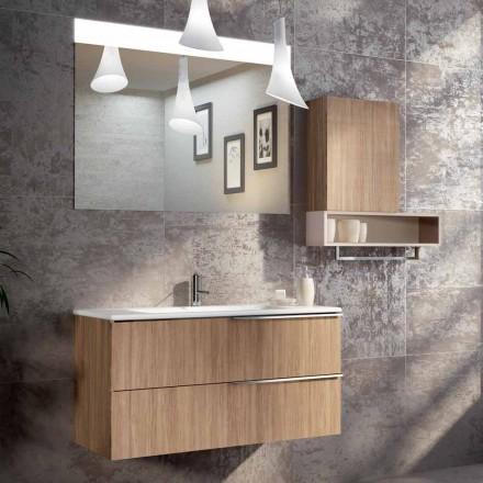 Suspended badrum design komposition i ecolegno gjort Italien, Cesena