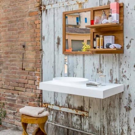Brusson massiva yta badrumsmöbler med modern design