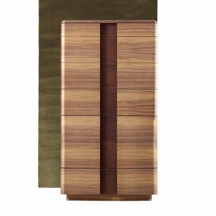 Modernt massivt träbädd Grilli York tillverkat i Italien