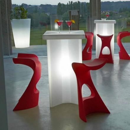 Utvändig hög pall för utomhus / inomhus Slide Koncord, tillverkad i Italien