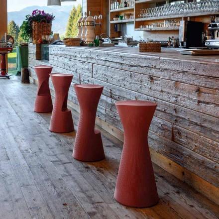 Hög trädgårdspall i färgad polyeten Tillverkad i Italien - Desmond