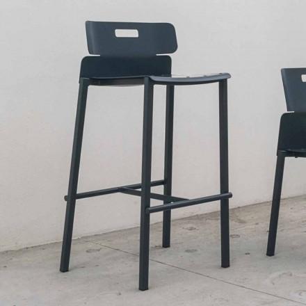 Hög designpall för utomhus i aluminium Tillverkad i Italien - Dobla