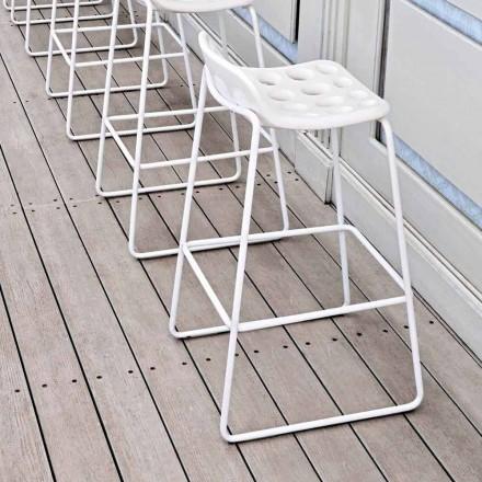Altoo designpall i vit plast för kök 2 stycken - flis från Myyour