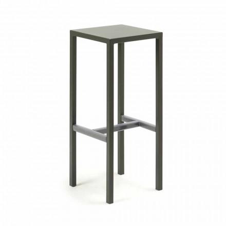 Utomhus barstol i pulverlackerad metall tillverkad i Italien - Meone