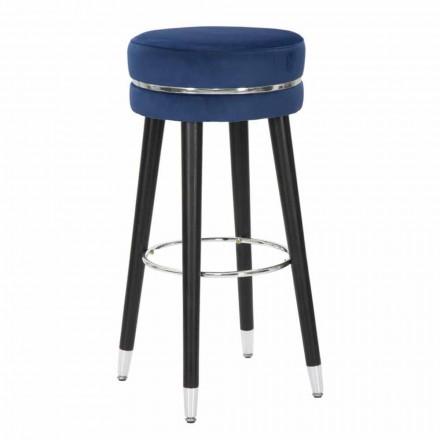 Modern design rund trä och tyg barstol - Rupert