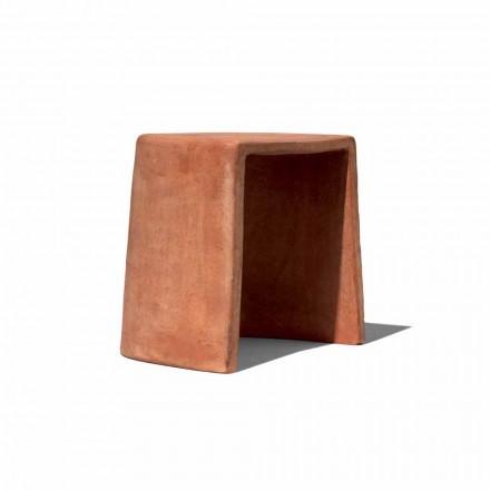 Lågpall för utomhushandgjord Terrakotta Tillverkad i Italien - Julio