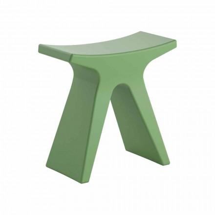 Utomhuspall med låg design i polypropylen Tillverkad i Italien - Prue