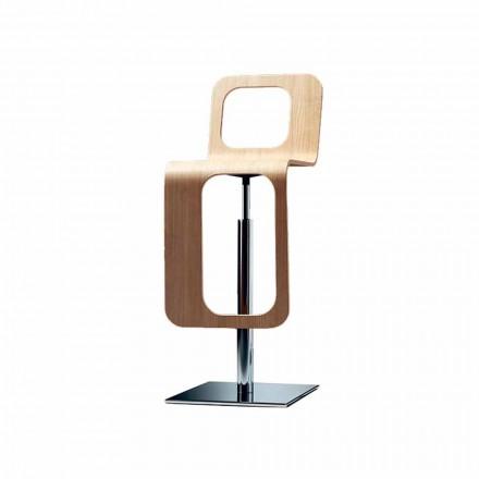 Modern designpall i ek och metall - Signorotto