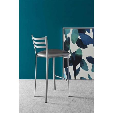 Modernt metall- eller tygkök eller barstol Tillverkad i Italien - ess