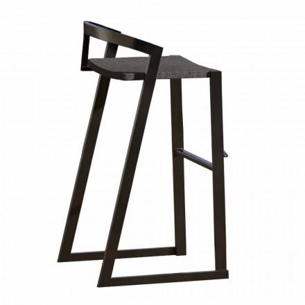 Utomhuspall i aluminiumdesign för bar eller kök, 3 ytor - Filomena