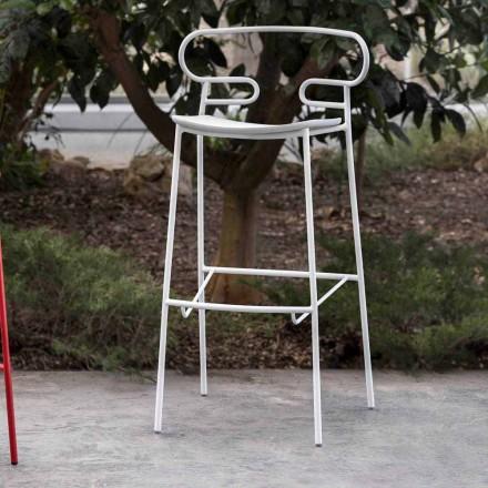 Utomhuspall i målad metall och polyuretan Tillverkad i Italien - Trosa