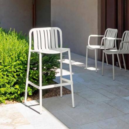 Trocadero modern utomhus stapelbar pall av Talenti, i aluminium